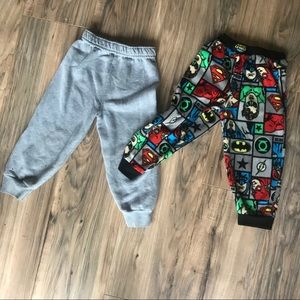 Other - 4 pack of boys pants shorts  sweats w/ superheroes